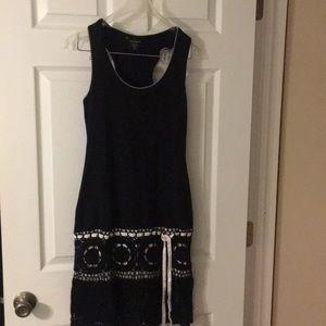 Black racer back crochet dress